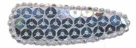 Haarkniphoesje met pailletten zilver 5 cm (ca. 100 stuks)