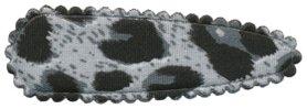 Haarkniphoesje panterprint grijs 5 cm (ca. 100 stuks)