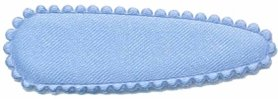 Haarkniphoesje satijn licht blauw 5 cm (ca. 100 stuks)