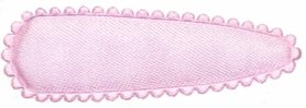 Haarkniphoesje satijn lichtroze 5 cm (ca. 100 stuks)