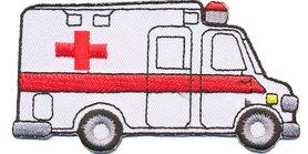 Opstrijkbare applicatie ambulance (5 stuks)