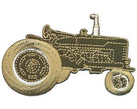 Opstrijkbare applicatie tractor groen (5 stuks)