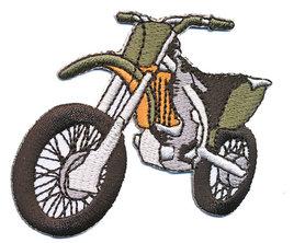 Opstrijkbare applicatie crossmotor groen (5 stuks)