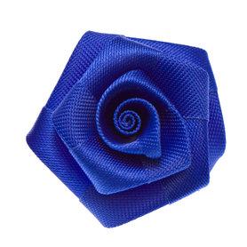 Roos satijn kobalt blauw 30 mm (10 stuks)