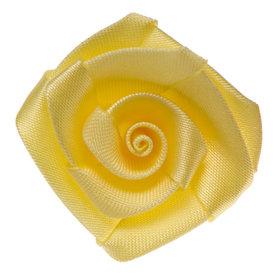 Roos satijn geel 30 mm (10 stuks)
