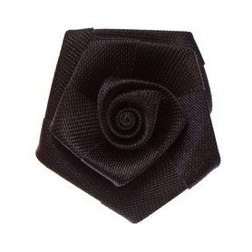 Roos satijn zwart 30 mm (10 stuks)