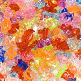 Letter bedels felle kleuren mix ca. 11 mm (ca. 450 stuks)