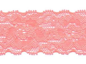 Elastisch kant NEON-roze/zalmroze ca. 35 mm (ca. 10 m)