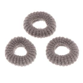 Badstof haarelastiek grijs (ca. 25 stuks)