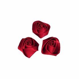 Roos satijn bordeaux 22 mm (25 stuks)