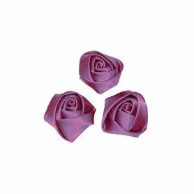 Roos satijn oud paars 22 mm (25 stuks)