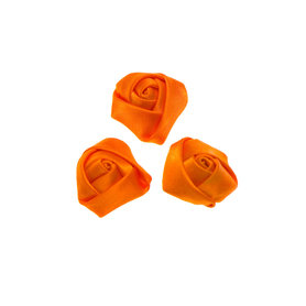 Roos satijn oranje 22 mm (25 stuks)