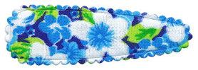 Haarkniphoesje aqua met zomerse bloem 5 cm (ca. 100 stuks)