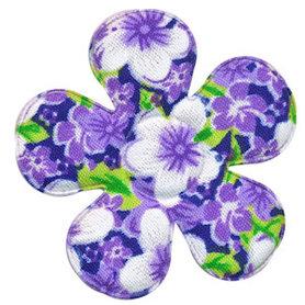 Applicatie bloem lila met zomerse bloem katoen groot 45 mm (ca. 100 stuks)