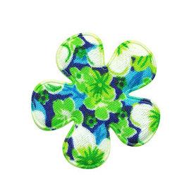 Applicatie bloem groen met zomerse bloem middel 35 mm (ca. 100 stuks)