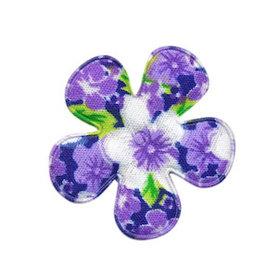 Applicatie bloem lila met zomerse bloem middel 35 mm (ca. 100 stuks)