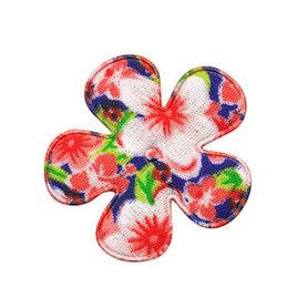 Applicatie bloem rood met zomerse bloem middel 35 mm (ca. 100 stuks)
