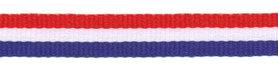 Rood-wit-blauw 'Nederlandse vlag' grosgrain/ribsband 10 mm (ca. 100 m)