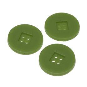 Knoop retro olijf groen 25 mm (ca. 25 stuks)