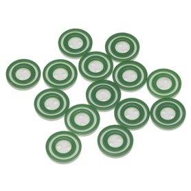 Knoop 'donut' mini donker groen 10 mm (ca. 100 stuks)