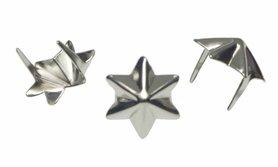 Stervormige stud zilverkleurig 15 mm (ca. 100 stuks)