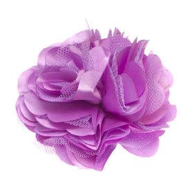 Bloem XL stof mix lila ca. 8 cm (5 stuks)