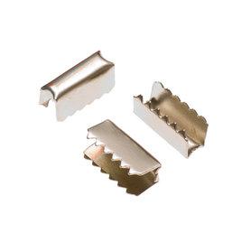 Metalen veter-/koordklem 12x4 mm (ca. 100 stuks)