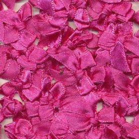 Satijnen strikjes fuchsia (ca. 100 stuks)
