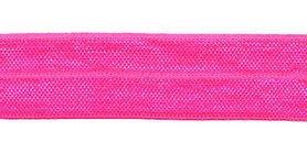 NEON roze #105 elastisch biaisband 20 mm (ca. 25 m)