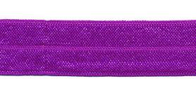 Paars #036 elastisch biaisband 20 mm (ca. 25 m)
