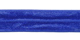 Kobalt blauw #011 elastisch biaisband 20 mm (ca. 25 m)