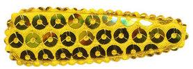 Haarkniphoesje met pailletten geel/goud 5 cm (ca. 100 stuks)