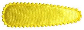Haarkniphoesje geel satijn effen 5 cm (ca. 100 stuks)