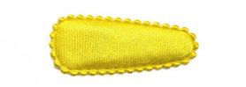 Haarkniphoesje satijn geel 3 cm (ca. 100 stuks)