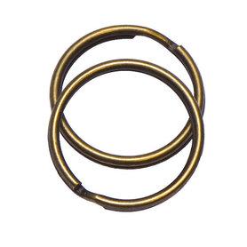 Sleutelring bronskleurig 25 mm (10 stuks)