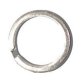Sleutelring plat zilverkleurig ca. 33 mm (10 stuks)