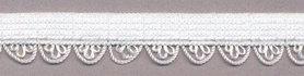 Elastisch kant wit met sierrandje 12 mm 0131/12S (ca. 10 m)