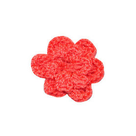 Gehaakt roosje meloen 25 mm (10 stuks)