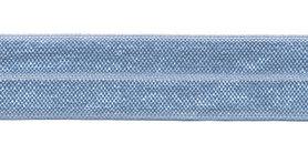 Licht blauw #023 elastisch biaisband 20 mm (ca. 25 m)