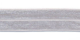 Licht grijs #078 elastisch biaisband 20 mm (ca. 25 m)