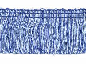 Tweekleurig franjeband blauw-wit ca. 32 mm (ca. 16 meter)