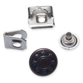 Broek / roksluiting koperkleurig met jeansknoop 14 mm (ca. 100 stuks)