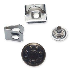 Broek -/roksluiting bronskleurig met jeansknoop 14 mm (ca. 100 stuks)