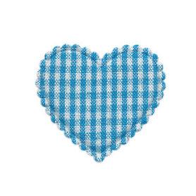 Applicatie ruitjes hart aqua middel 35 x 30 mm (ca. 100 stuks)