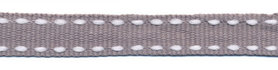 Grijs-wit stippel grosgrain/ribsband 10 mm (ca. 25 m)