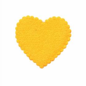 Applicatie hart oranje vilt middel 35 x 35 mm (ca. 100 stuks)