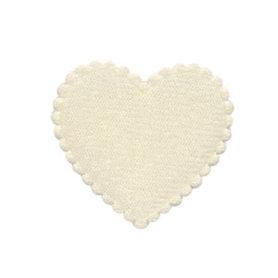 Applicatie hart creme vilt middel 35 x 35 mm (ca. 100 stuks)