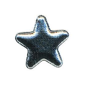 Applicatie glim ster zilver middel 30 mm (ca. 100 stuks)