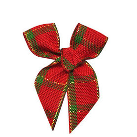 Kerststrik geruit rood-groen-goud (ca. 25 stuks)
