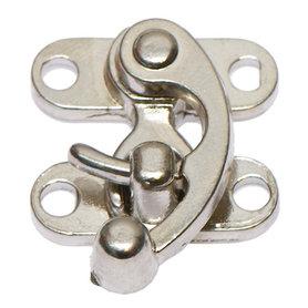 Metalen swing tassluiting zilverkleurig ca. 28x34 mm (10 stuks)